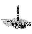 wireless projectors text word cloud concept vector image vector image