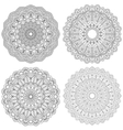 Set of ethnic round ornaments Mandala vector image
