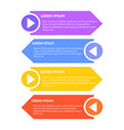 abstract infographic background vector image