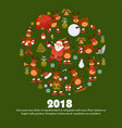 2018 poster for christmas or new year winter vector image