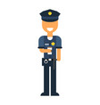 a policeman drinks coffee vector image