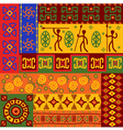 abstract african ethnic patterns vector image vector image