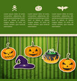 abstract halloween holiday greeting poster vector image vector image