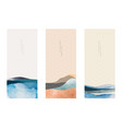 abstract landscape background with japanese wave vector image vector image