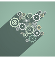Abstract Paper Cogs Gears on Retro Background vector image vector image