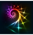 Abstract rainbow fractal spiral background vector image vector image