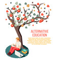 alternative education isometric composition vector image vector image