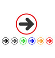 arrow right rounded icon vector image