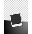Black flyer design with polaroid photo frame vector image vector image