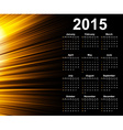 Calendar 2015 year template with abstract vector image vector image