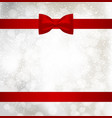 christmas background with red holiday ribbon and vector image vector image