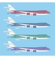 Civil aviation travel passanger air plane vector image vector image
