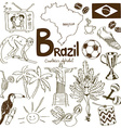 Collection of Brazil icons vector image