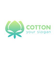 cotton logo element on white vector image vector image