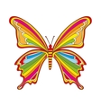 cute butterfly drawn isolated icon vector image