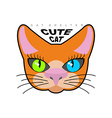 Cute cat Logo for Cat shelter emblem pet vector image vector image