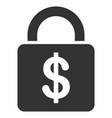 dollar lock flat icon vector image