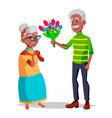 elderly couple modern grandparents vector image vector image