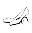 elegant heel female icon vector image