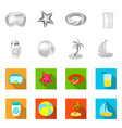 equipment and swimming icon vector image vector image