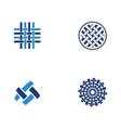 fabric icon design template vector image