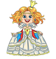 fairytale cartoon funny smiling princes vector image