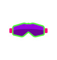 flat style skiing snowboarding mask goggles vector image vector image