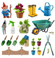 garden accessories set vector image