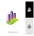 green city logo concepts symbol icon of vector image vector image