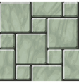 Greenish polished stone tiles texture vector image