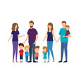 group of family members vector image