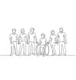 group people hold hands friends together vector image
