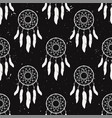 grunge monochrome seamless pattern with dream vector image vector image