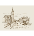 hand-drawn London vector image vector image