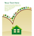 house with green eco pattern vector image