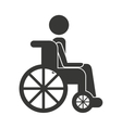 human person wheelchair icon vector image vector image