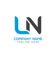 initial ln letter business logo design template vector image vector image