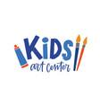 kids art center flat logo children