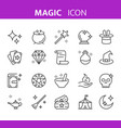 line magic and circus icon vector image vector image