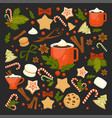 merry christmas winter holiday concept symbolic vector image vector image