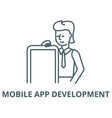 mobile app development line icon linear vector image