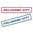 Oklahoma City Rubber Stamps vector image vector image