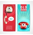 Old telephone banners vertical vector image vector image