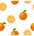 orange seamless on white background vector image vector image