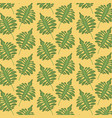 pattern color set decorative of tropical green vector image vector image