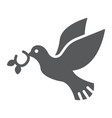 pigeon glyph icon bird and symbol dove sign vector image