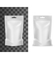plastic sachet food product pouch bag doypack vector image vector image