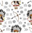 pocahontas arrow american native culture seamless vector image vector image