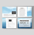 presentation slide templates easy editable vector image vector image