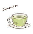 printable of isolated cup of vector image vector image